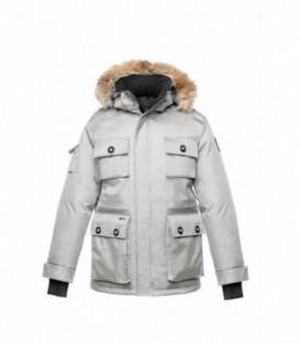 Белая Мужская Парка (куртка) NOBIS BARRY