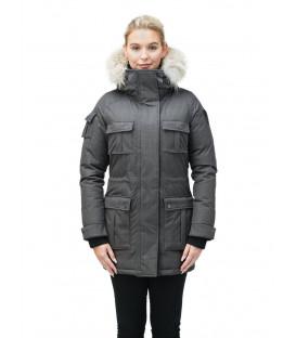 Серая Женская Парка (куртка) NOBIS CINDY